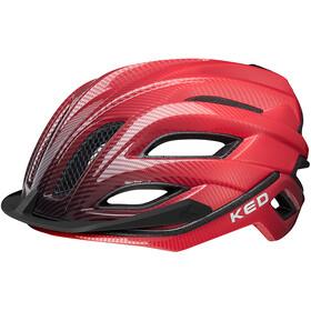 KED Champion Visor - Casque de vélo - rouge/noir